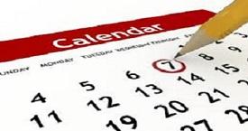 Imagen de un calendario con un lapiz