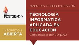 Imagen póster Maestría y Especializacion de Tecnología Informática Aplicada en Educación