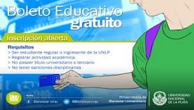 Imagen de Boleto Educativo Universitario Gratuito